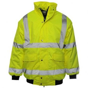 HI-VIS BOMBER JACKET QUILTED SMALL